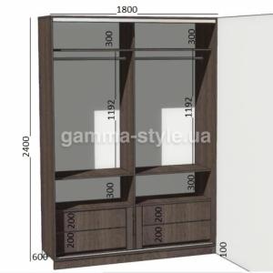 Шкаф-купе с матовыми зеркалами